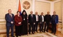 Торжественная церемония награждения в резиденции Президента Республики Арцах