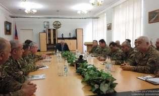 Посещение министерства обороны Республики Арцах