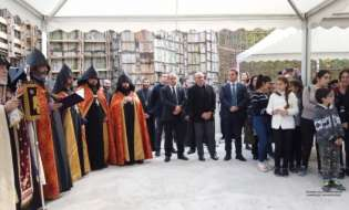 Президент Саакян принял участие в мероприятиях, посвященных 5-летнему юбилею Международной школы и основанию новой церкви в Дилиджане